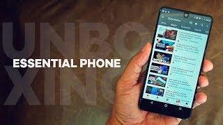 O Smartphone do criador do Android - Unboxing Essential Phone!