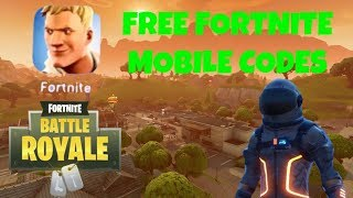 FORTNITE MOBILE FREE CODES **NOT CLICKBAIT**