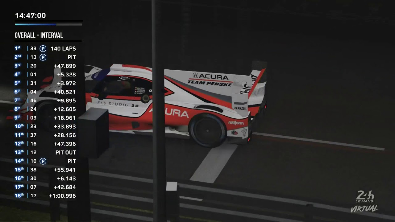 Le Mans 24 Hours Virtual: Replay Hour 10