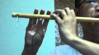 sao truc VONG KIM LANG practicing bamboo flute Vietnam