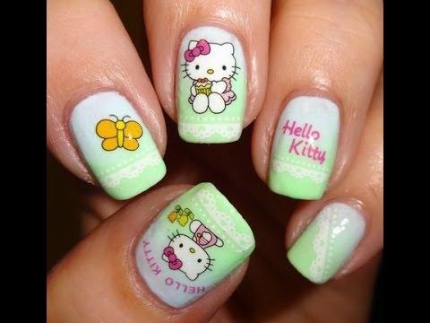 Modelos de Uñas Hello Kitty. Decoraciones de Uñas