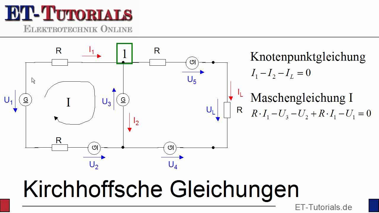 Kirchhoffsche Gleichungen Youtube