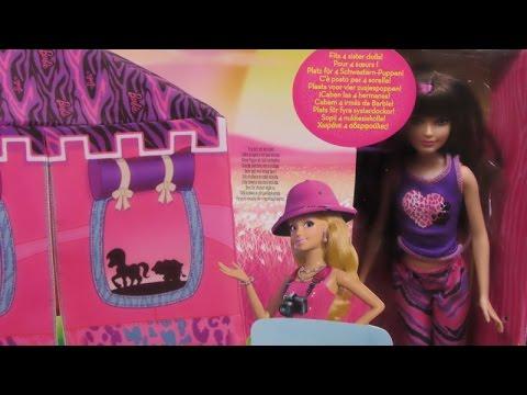 Barbie - Sisters Safari Doll and Tent Playset - Mattel