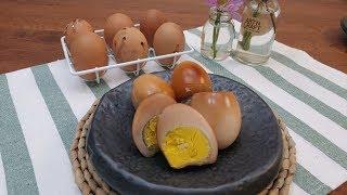구운달걀 :: 물 한방을 넣지 않고 계란 자체의 수분만…