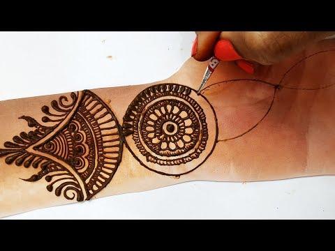 Stylish Trick Mehndi Design Using Bangle - आसान मेहँदी लगाना सीखें || Latest mehndi 2019