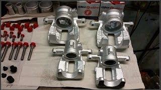 Мерседес А класса 169 кузов ремонт тормозов. Замена колодок и реставрация суппортов. (часть 5)(Передние суппорта, установка., 2016-04-18T09:19:45.000Z)