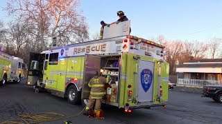 Wayne NJ Extrication Technical Rescue Several Rescue Trucks to the Scene @ Lincoln Wayne Car Wash