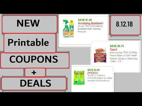 *HOT* New Printable Coupons and Deals!- 8/12/18