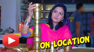 Honar Sun Mi Hya Gharchi - Behind the Scenes - Tejashri Pradhan in Playful Mood! - Marathi Serial