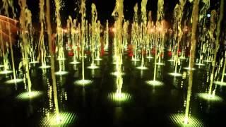 Ночной фонтан в Парке Горького (г.Казань). Официальное видео/ Fountain in Gorky Park (Kazan)