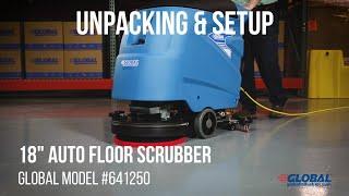 641250 Global Industrial Floor Scrubber Unpacking & Setup