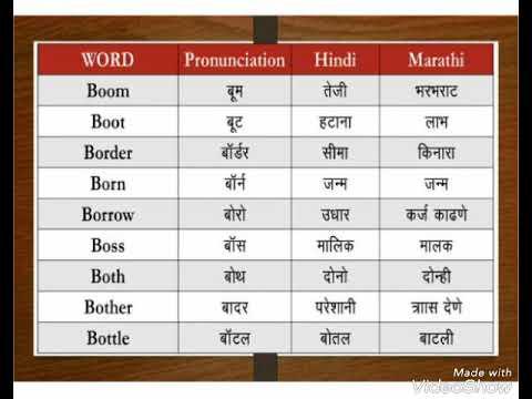 Dictionary - Learn Words in English, Hindi & Marathi