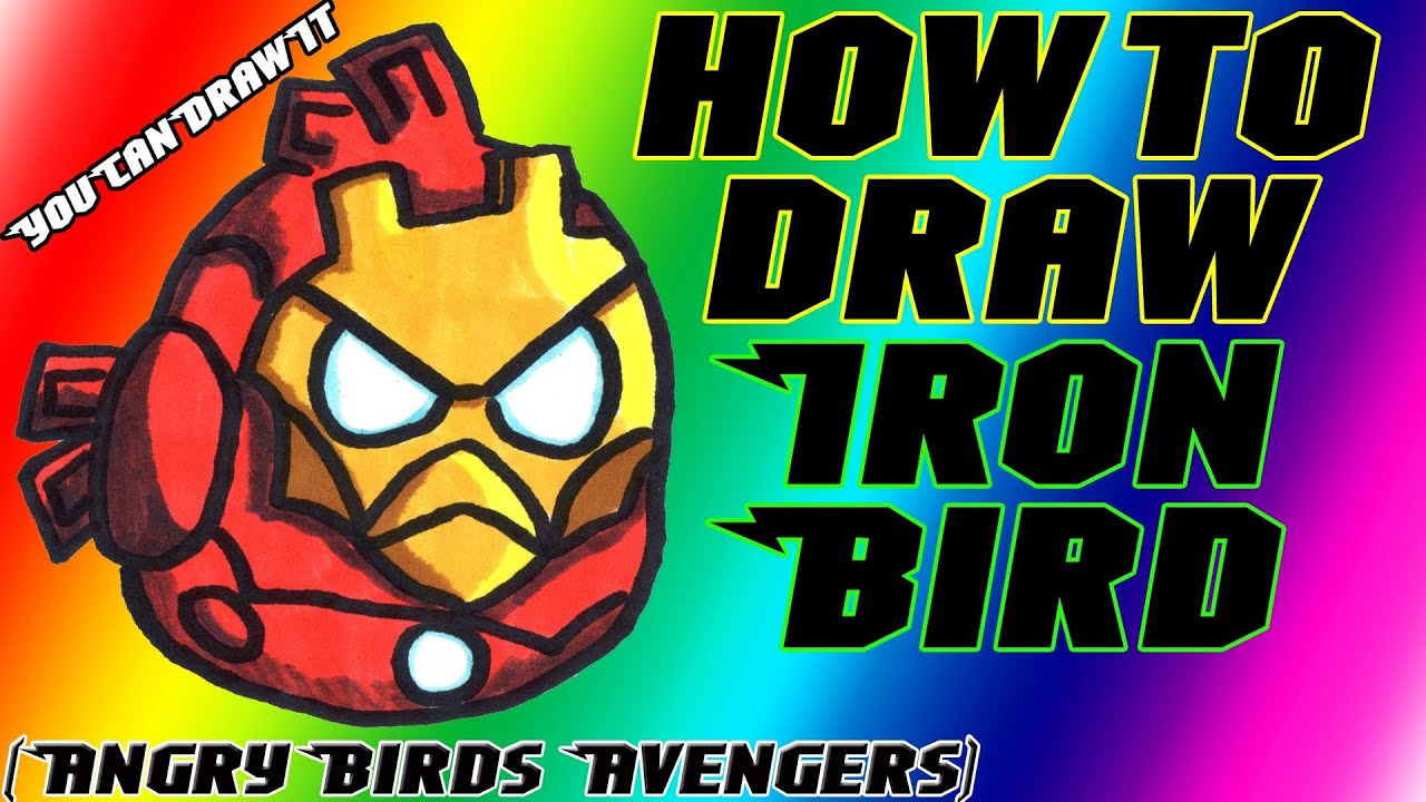 How To Draw Iron Man Bird From Angry Birds Avengers