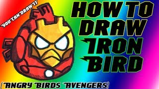How To Draw Iron Man Bird from Angry Birds Avengers ✎ YouCanDrawIt ツ 1080p HD