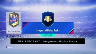 FIFA19 SBC BASIC : League and Nation Basics