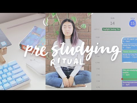 my pre studying routine 🍵 how to prepare for a productive study session