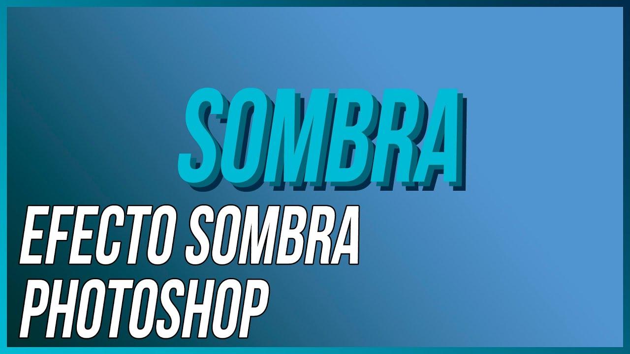 CMO CREAR EFECTO SOMBRA EN TEXTO  PHOTOSHOP CC TUTORIAL  YouTube