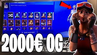 🤫MEIN GEHEIMER 2000€ OG ACCOUNT💸 with RENEGADE RAIDER and SELTENSTER SKIN of the WORLD..! (Fortnite)