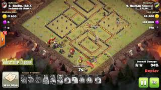 """Clan War Leagues"" Season - Round 5 - Clash of Clans TH12 Pro Attacks"