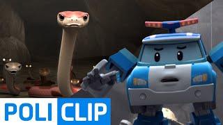 Whoops. a snake!   Robocar Poli Clips