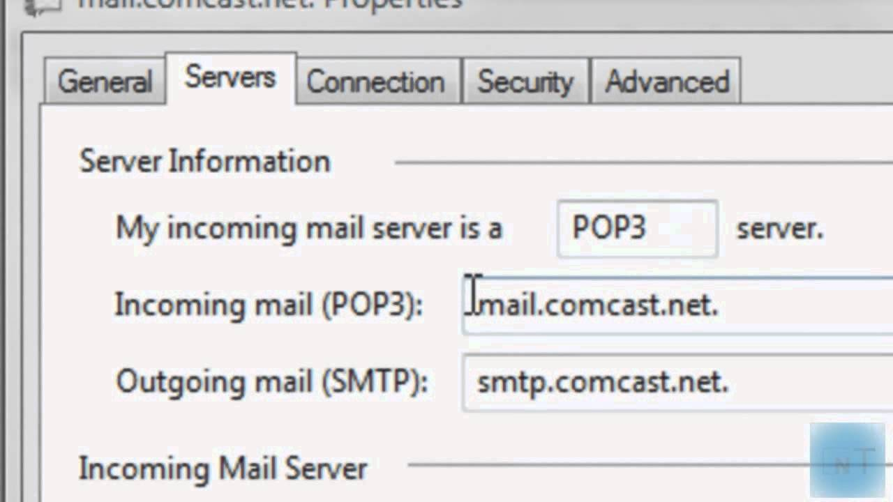 Add A Comcast Email In Outlook Youtube