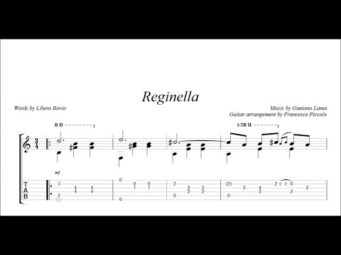 Neapolitan Song - Reginella (Solo Fingerstyle Guitar)