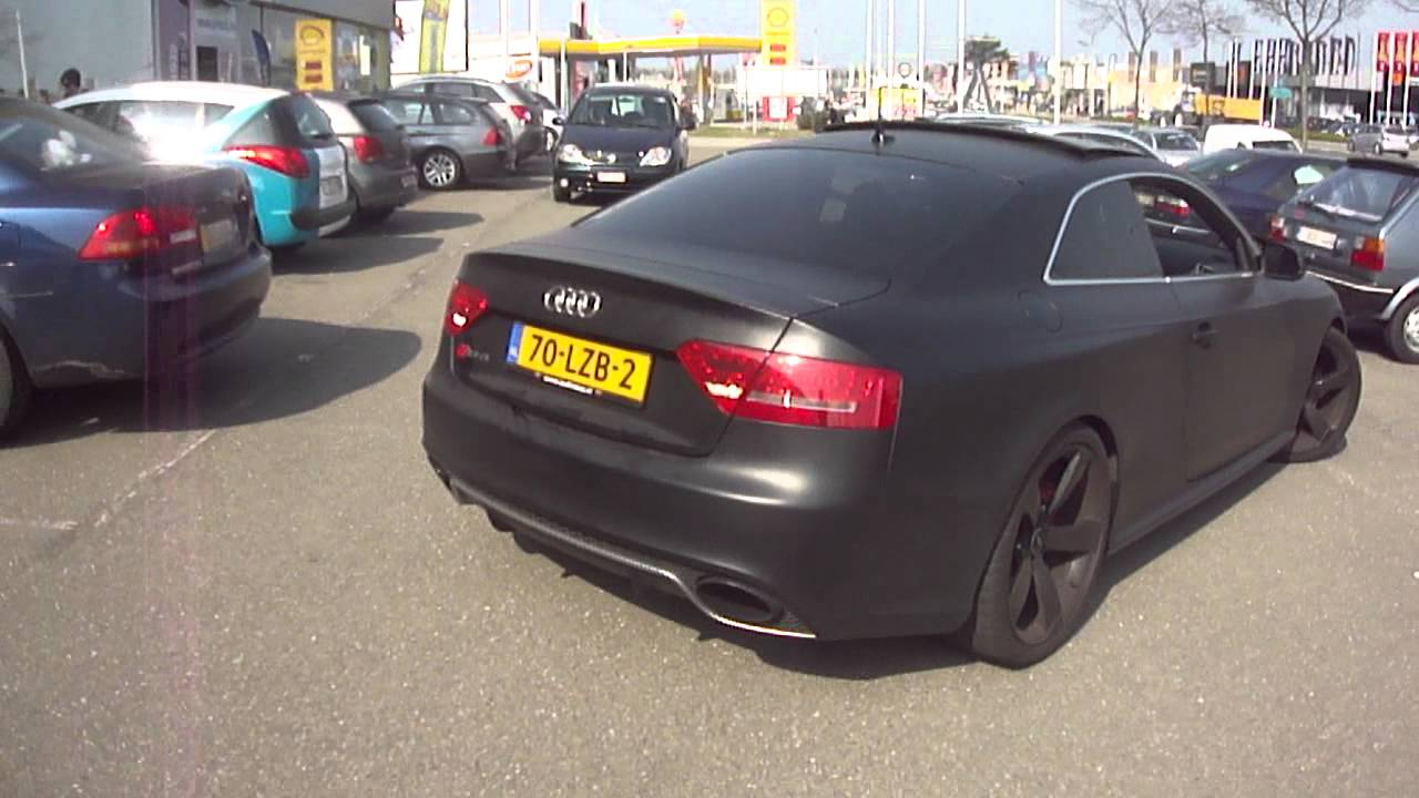 Matte Black Audi Rs5 Start Up Nice Revs And Nice