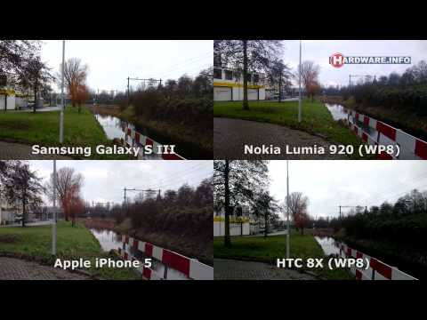 Video shootout: Nokia Lumia 920 vs HTC 8X vs Samsung Galaxy S3 vs Apple iPhone 5