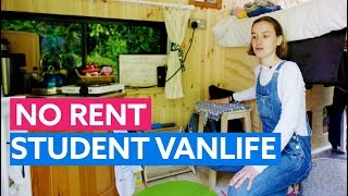 Student Escapes Rent With Self Build Camper Using Her Student Loan!