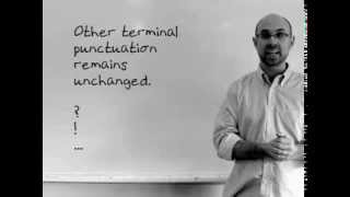 Punctuation in direct speech: Пунктуация в прямой речи