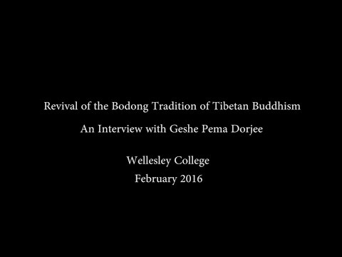 Revival of the Bodong Tradition of Tibetan Buddhism: An Interview with Geshe Pema Dorjee