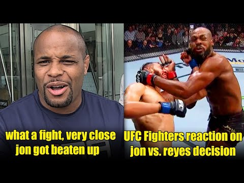 Daniel cormier and other fighter reaction on Jon Jones win over Dominic Reyes