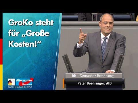 """GroKo steht für """"Große Kosten!"""" - Peter Boehringer - AfD-Fraktion im Bundestag"""