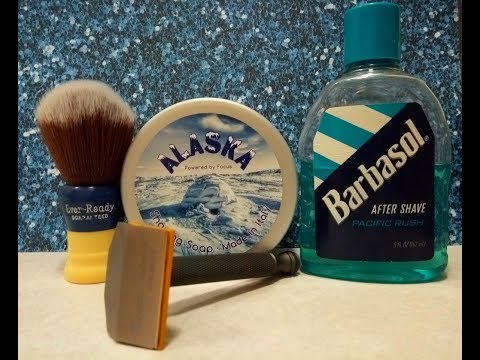 Phoenix Shaving Starling SE, TFS Alaska soap and Barbasol Pacific Rush aftershave