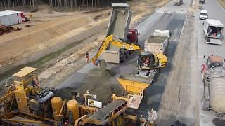 Budowa autostrady A2 - Beton (z góry)