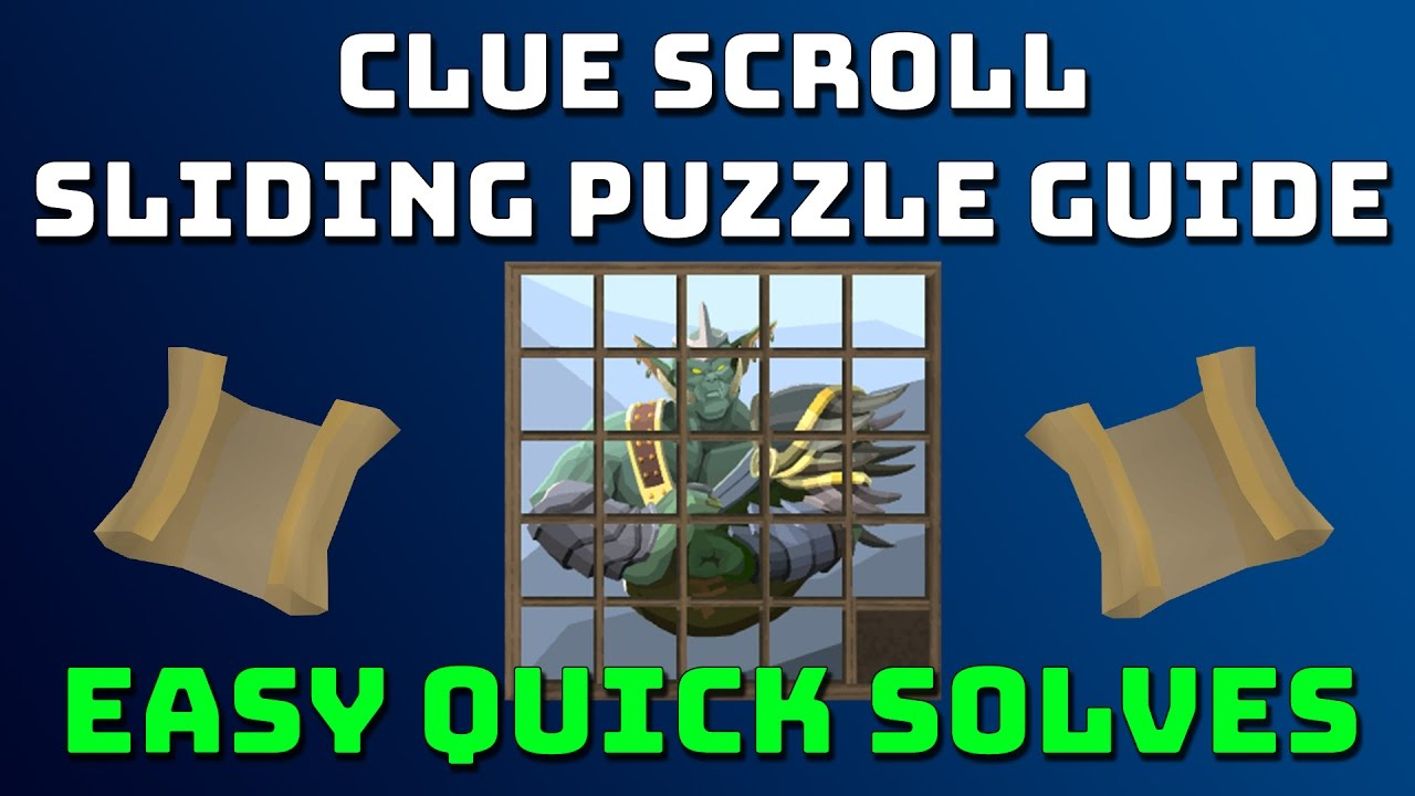 Clue Scroll Sliding Tile Puzzle Guide [Runescape 3]