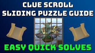 Clue Scroll Sliding Tile Puzzle Guide [Runescape 3]