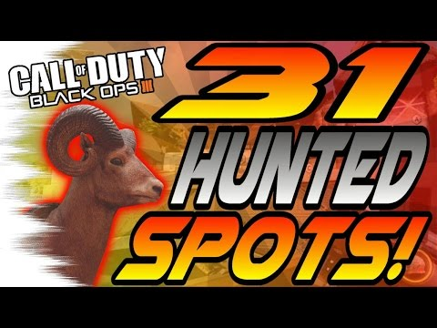 ALL 31 HUNTED Spots & Glitches! - Ledges, Hiding Spots, Lines of Sight (Black Ops 3/BO3)