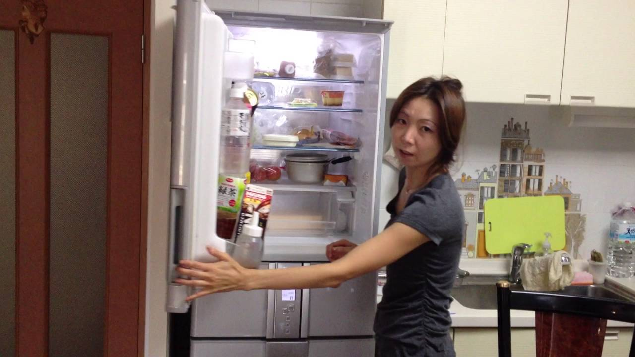 Cool Japanese Refrigerator Opens From Both Sides Youtube