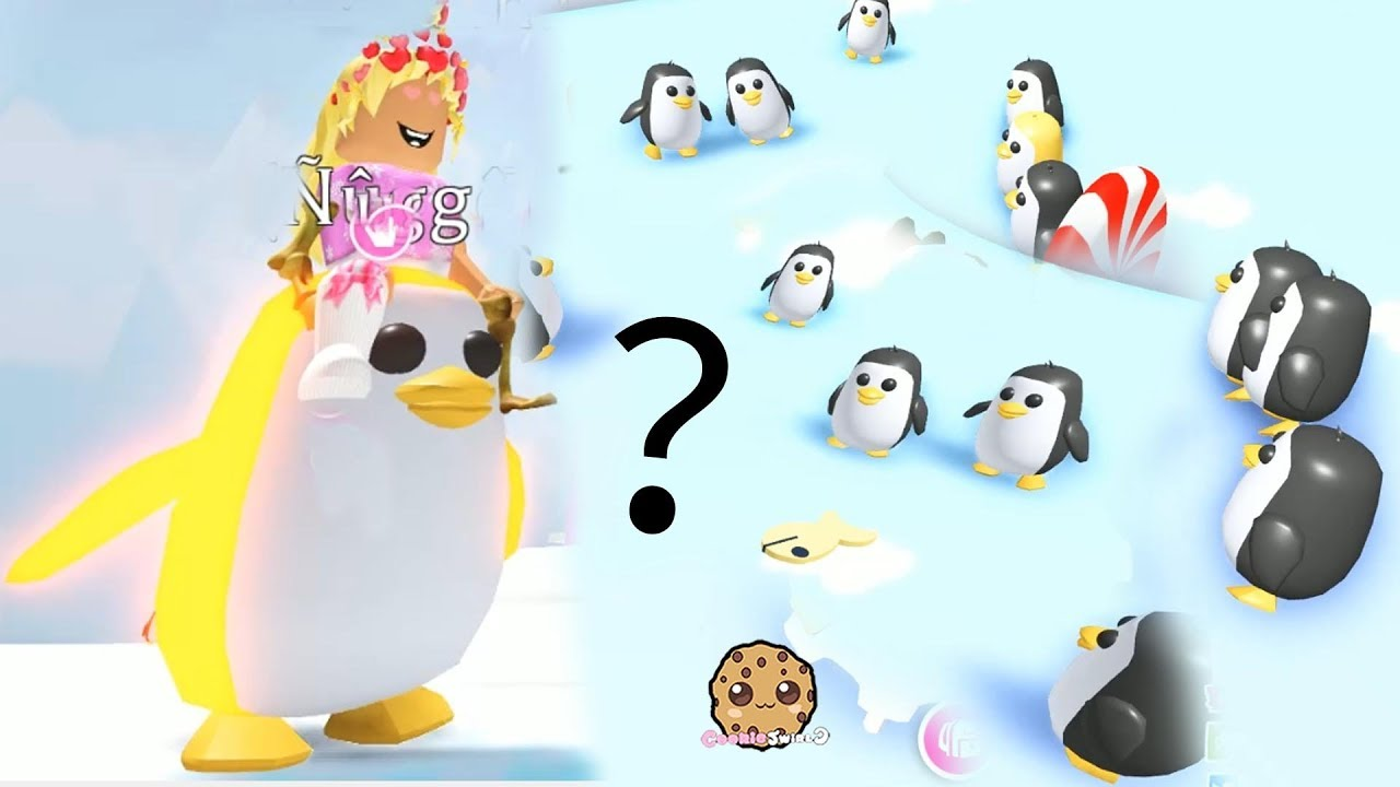 RARE Gold Penguin Let's Play Roblox Adopt Me Video Game