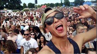 doing a flip at v festival 2016 james morrison stormzy travel stoke