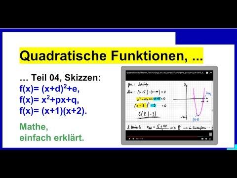 graphen zeichnen quadratische funktionen teil 04 youtube. Black Bedroom Furniture Sets. Home Design Ideas