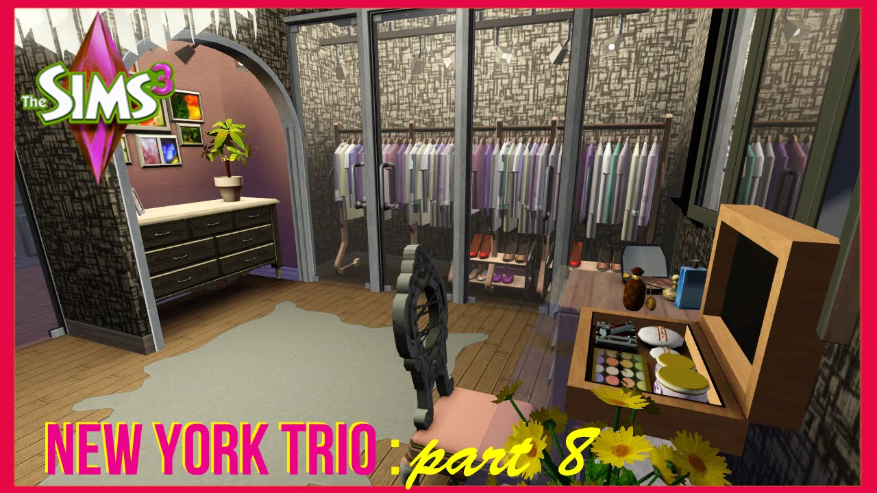 The sims 3 new york trio closet youtube for Mods sims 4 muebles