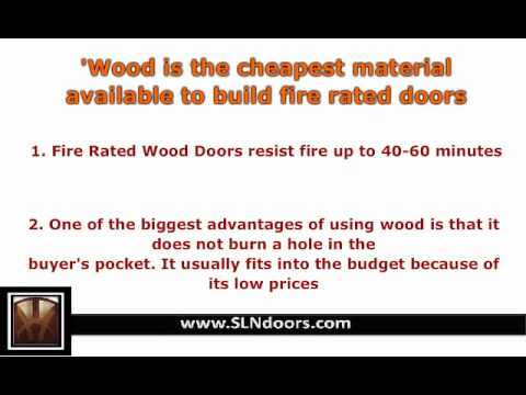 Fire Rated Wood Doors   YouTube
