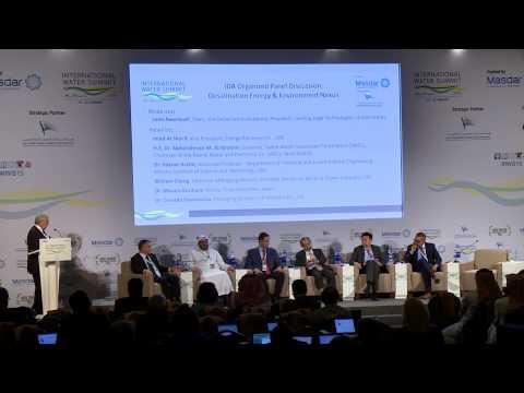 IDA Panel Desalination Energy & Environment Nexus 2015