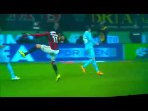 Giampaolo Pazzini Amazing Goal AC.Milan vs S.S.Lazio 3-0 Serie A. 02.03.2013