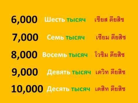 ภาษารัสเซีย ตอน นับเลข 100 - 10,000
