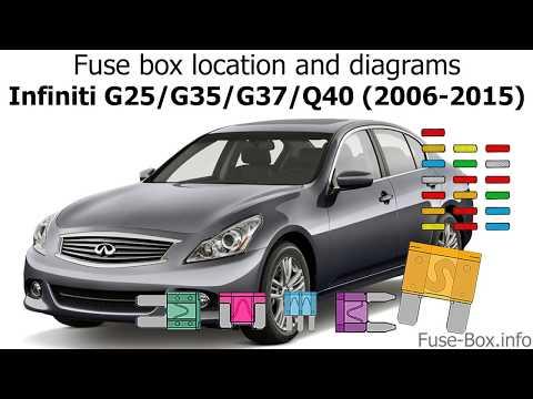 Fuse box location and diagrams: Infiniti G25, G35, G37, Q40 (2006-2015) -  YouTubeYouTube