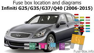 Fuse Box Location And Diagrams Infiniti G25 G35 G37 Q40 2006 2015 Youtube