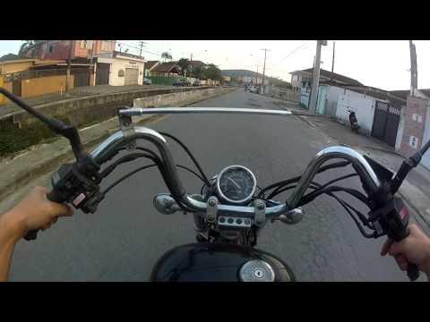 Canal do Feroldi - TESTANDO A VIRAGO, MOTO ESTRANHA E CONFORTAVEL KKKKKKK